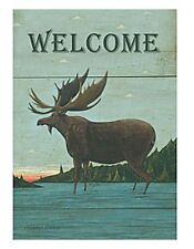 Lang Co. - Moose Lodge - Welcome mini garden flag - #Lg-Gf-026