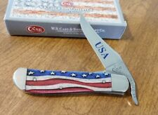 CASE XX New Stars and Stripes Smooth Bone Handle 1 Blade Russlock Knife/Knives