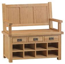 Montreal Solid Oak Large Monks Bench / Hallway Seat / Shoe Storage Cabinet