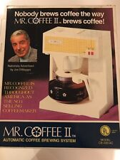 Mr. Coffee II Joe DiMaggio NOS New Automatic Coffee Maker 1975