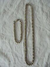 Bracelet Set Lot Mexico 63 grams Vintage 925 Sterling Silver Ball Bead Necklace