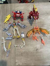 Power Rangers Mixx N Morph Mixed Dino Tiger Zoe?s Clawzord Red Parts Lot Bandai