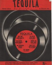 """Vintage sheet music - """"Tequila"""" - Chuck Rio piano solo arranged by Lou Halmy"""