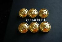 6 Six  Lot of 6 Chanel Buttons   19,8 mm 0,8 inch 💋💋 ccmedium