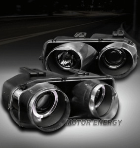 FOR 98-01 ACURA INTEGRA PROJECTOR HEADLIGHTS HEADLAMPS LAMPS BLACK