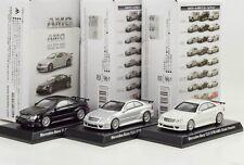 Mercedes-Benz AMG CLK DTM Rue Lot de 3 Jeu noir blanc argent, échelle 1:64
