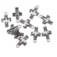 Dove of peace cross Tibetan Silver Bead charms pendant 10pcs 25*16mm