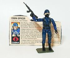 Vintage GI Joe Cobra Officer 100% Complete with File Card 1982-83