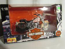 Maisto Harley Davidson FLSTS Heritage Springer Motorcycle 1:18 Diecast White Red