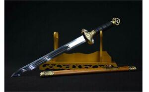 War Battle Ready Dual Edge Chinese Jian Short Double Edged Sword Ninja Weapon