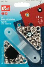Prym 40 5mm Silver eyelets with washers and fixing tool Leather Craft 542410