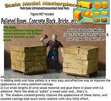 Palleted Boxes/Bricks-Sm (2pcs)Scale Model Masterpieces HO Fine Craftsman Detail