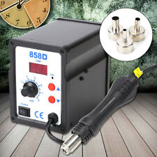 220v 858d Soldering Repair Desoldering Iron Station Hot Air Rework Smd Tool Uk