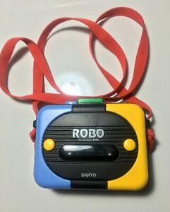 SANYO ROBO-P1 Rare Vintage Portable Cassette Player-Working