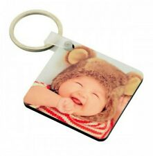 PERSONALISED CUSTOM PRINTED PHOTO WOOD KEYRING