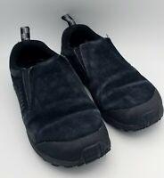 Women's Merrell Black Suede Slip On Jungle Moc Nubuck Shoes Size 7.5