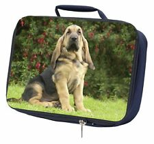 More details for bloodhound dog navy insulated school lunch box bag, ad-bl1lbn
