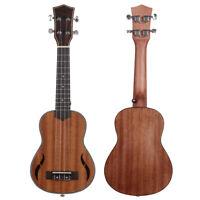 Cy_ 21/23/26inch 4  Wooden Ukulele Hawaiian Guitar Musical Acoustic Instrument B