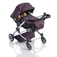 Molly Dolly 2 in 1 Twin Deluxe Babyboo Doll Stroller/Pram Buggy Girls Junior Toy