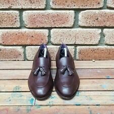 Carmina Brown Calf Leather Tassel Loafers UK8/US9 Excellent Condition Uetam Last