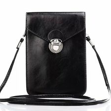 4-6 Inch Mobile Phone Cell Sleeve Shoulder Bags Case Leather Pouch Pur