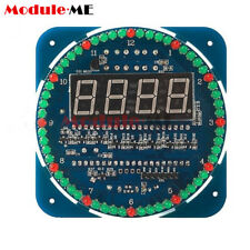 Rotating DIY DS1302 LED Electronic Digital Clock Kit 51 SCM Learning Board 5V