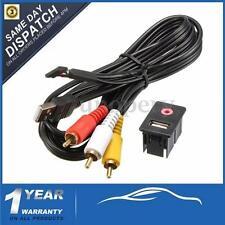 Car Dash Flush Mount 3.5mm AUX & USB MALE 3 RCA Extension Cable Lead Socket 1.5m
