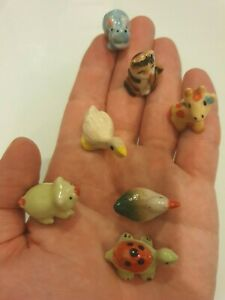 50 Pcs Wholesale Miniature Ceramic Animal Figurines - Mini Ceramic Animals