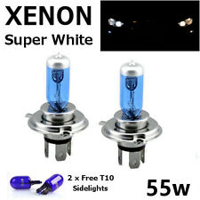 H4 60/55w SUPERWHITE XENON 472 UPGRADE HID Headlight Bulbs 12v +501 Sidelights G