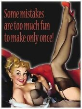 Some Mistakes, Funny/Comedy, Pin-up Girl, Joke YOLO Novelty Fridge Magnet
