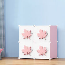 DIY 4 Cube Closet Wardrobe Modular Storage Organizer Clothes Shoe Box Bookcase