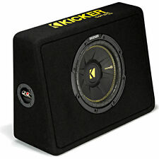 """Kicker CompC 44TCWC104 300W RMS 10"""" Ported Loaded Subwoofer Enclosure Bass Box"""