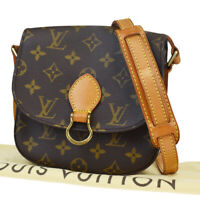 Auth LOUIS VUITTON Mini Saint Cloud Shoulder Bag Monogram Brown M51244 76MB901