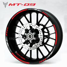 MT-09 motorcycle wheel decals stickers rim stripes Laminated mt09 MT tracer red