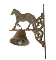 Vintage Horse Dinner Bell Cast Iron Rustic Finish Western