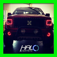 2009-2015 ORACLE Ford F150 & Raptor RED LED Halo Headlight+Fog Rings 4PC