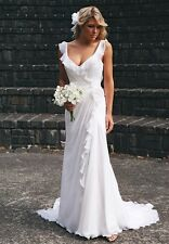 Custom Plus Size Ball Deb Beach Bridal Gown Wedding Dress 6-8-10-12-14-16-18++