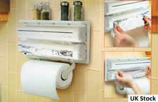 Triple Roll Holder Paper Dispenser Cling Film Tin Foil Towel Multi-Use Kit
