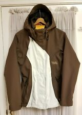 Volcom Nimbus 10,000 mm Brown/White Nylon Snowboard Jacket - Women's Size Medium