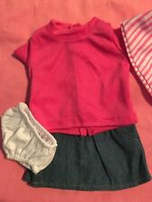 "Lakeside Collection Doll-Pink Top, Jean Skirt/Pantie fits American Girl/18"" doll"