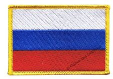 Écusson Brodé Drapeau Russie Russe 5x8cm thermocollant