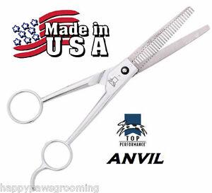 "*USA MADE TP/ANVIL PET Dog Cat PRO GROOMING 7"" THINNING BLENDING SHEARS Scissors"