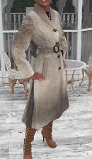 New Designer Swing CUstom Paris Full length tone gray Pony Fur Coat Jacket S 0-6