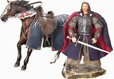 "Lotr~Aragorn & Brego~Dlx Horse & Rider~6"" Figure Set~Toy Biz~Mib"