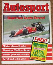Autosport 21/3/85 *FERRARI 126 C4 - MIKE SMITH'S ESCORT RS TURBO TEST - NEW MR2