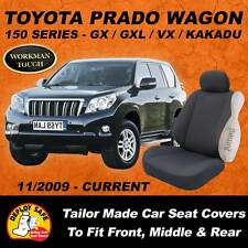 Canvas Car Seat for Covers TOYOTA PRADO 150 SERIES 3 rows 2009-ON Airbag Safe!