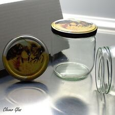 32 Honiggläser 500g / 425ml mit TO82 mit Bienendekordeckel - Kostenloser Versand
