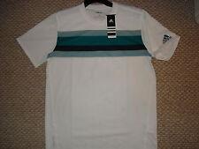 NWT Adidas Fall adipure Men's Tennis White Crew Shirt W39645 Large