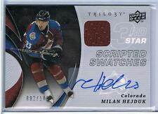 08-09 MILAN HEJDUK UD TRILOGY SCRIPTED SWATCHES JERSEY/AUTO #/100 AVALANCHE