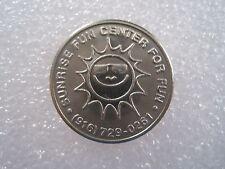Sunrise Fun Center Citrus Hts California (CLOSED) Token Coin 0719